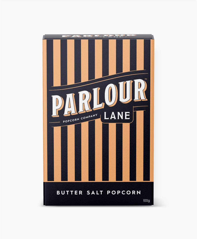 Parlour Lane Popcorn Package Design Butter Salt