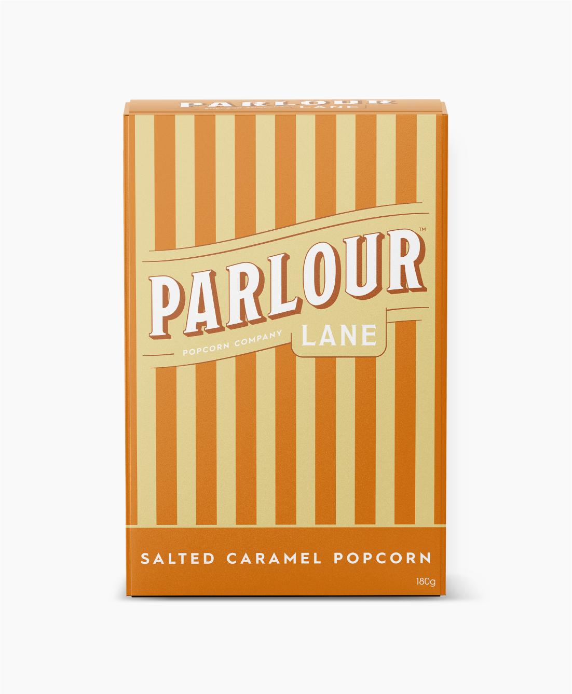 Parlour Lane Popcorn Package Design Salted Caramel