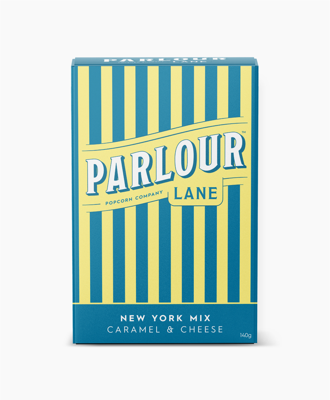 Parlour Lane Popcorn Package Design New York Mix