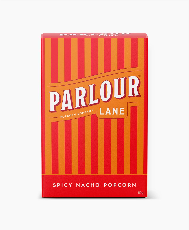 Parlour Lane Popcorn Package Design Spicy Nacho