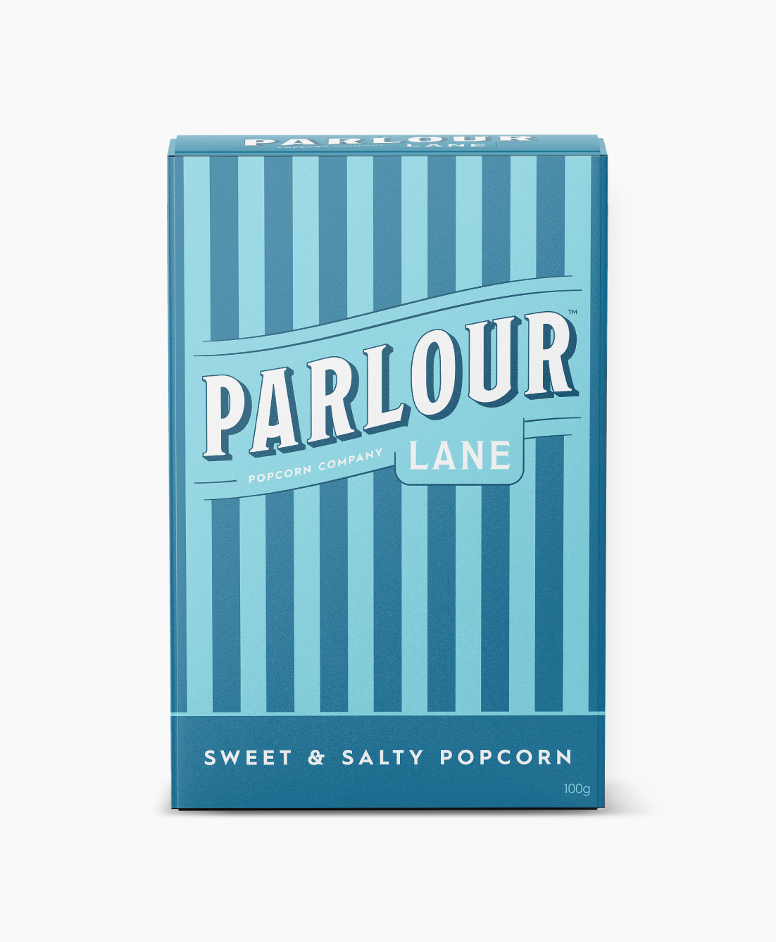 Parlour Lane Popcorn Package Design Sweet and Salty